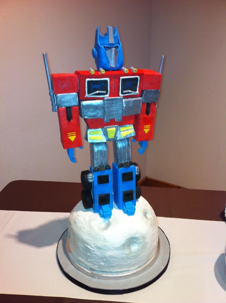 Optimus Prime Cake Tutorial