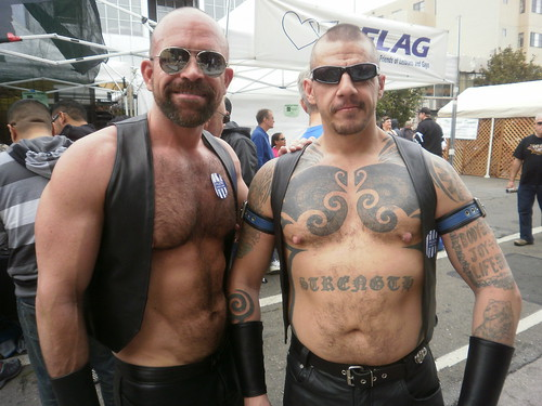 SEXY MUSCLE MEN ! FOLSOM STREET FAIR 2011 ! PORN STAR MARCO DBRUTE (left) ( safe photo ) | by addadada
