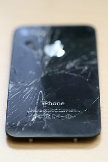 Broken iPhone 4 Back Glass | by candescent