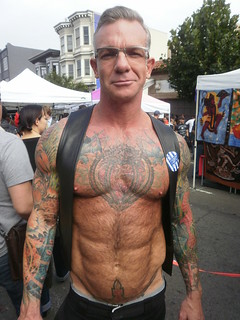 FOLSOM STREET FAIR 2011 - WHOA-- BEAUTIFUL TATS MAN- COREY JAY! (SAFE PHOTO) | by addadada