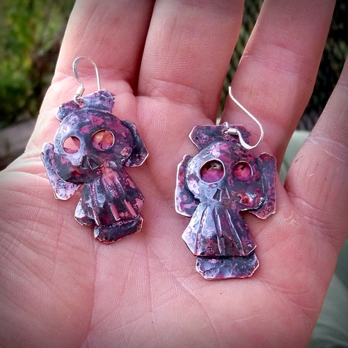 the brothers Grim forged copper earrings | by leespicedragon