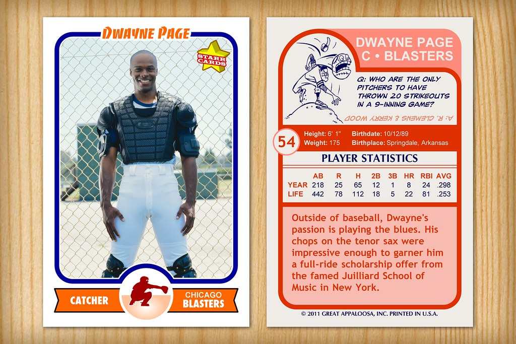 Retro 75 Custom Baseball Card