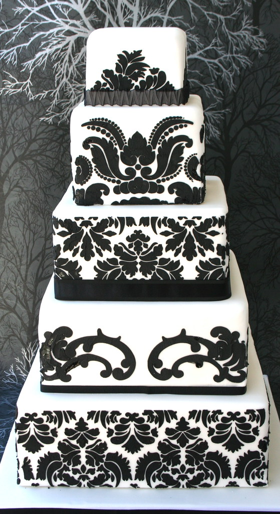 Damask Stencil For Wedding Cakes