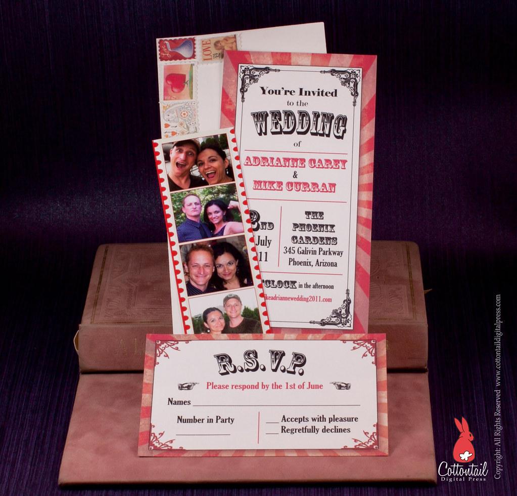 Circus Movie Ticket Wedding Invitation Www Etsy Com Listin Flickr