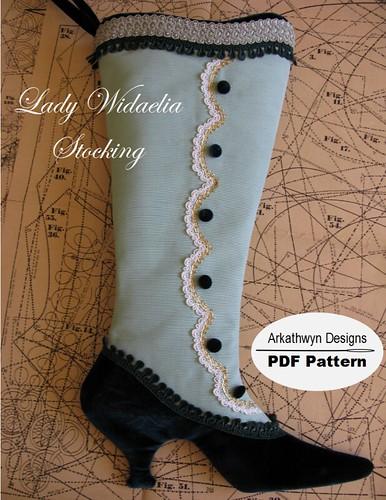 Victorian Christmas Stocking Pattern Lady Widaelia A