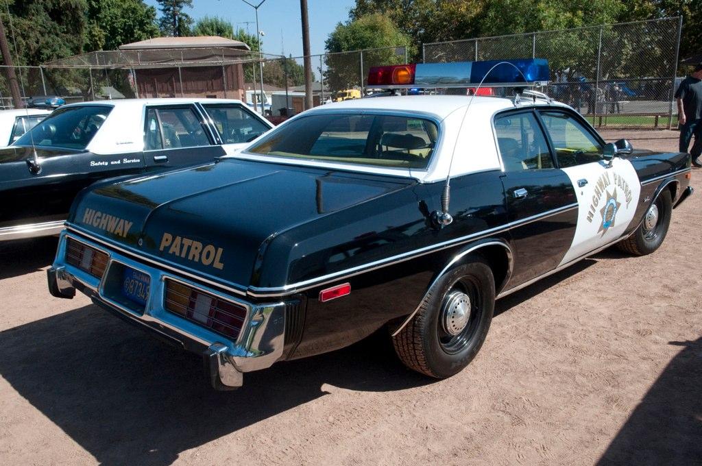 chp 1977 dodge monaco back a california highway patrol