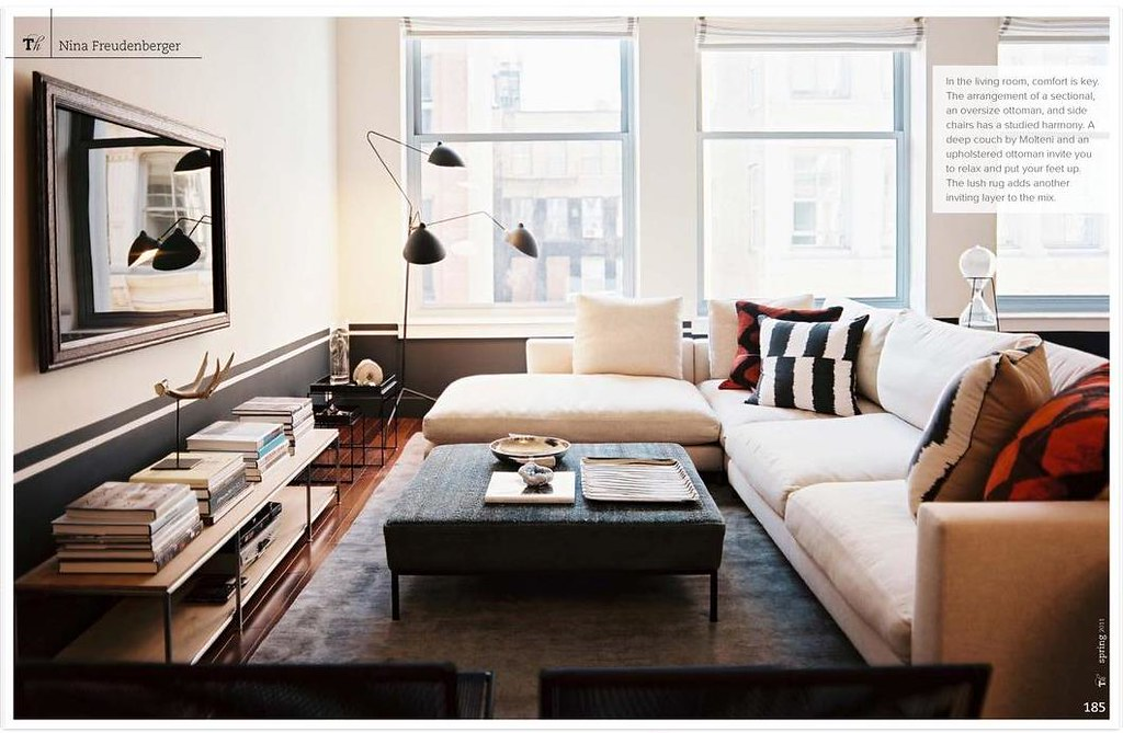 Gray + Cream In Modern Living Room: Farrow U0026 Ball U0027Railingu2026 | Flickr Part 73