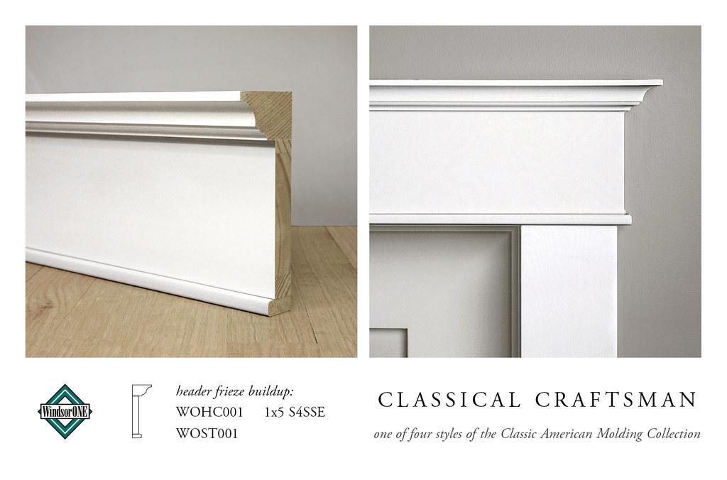 Classical Craftsman Header Molding Buildup Header