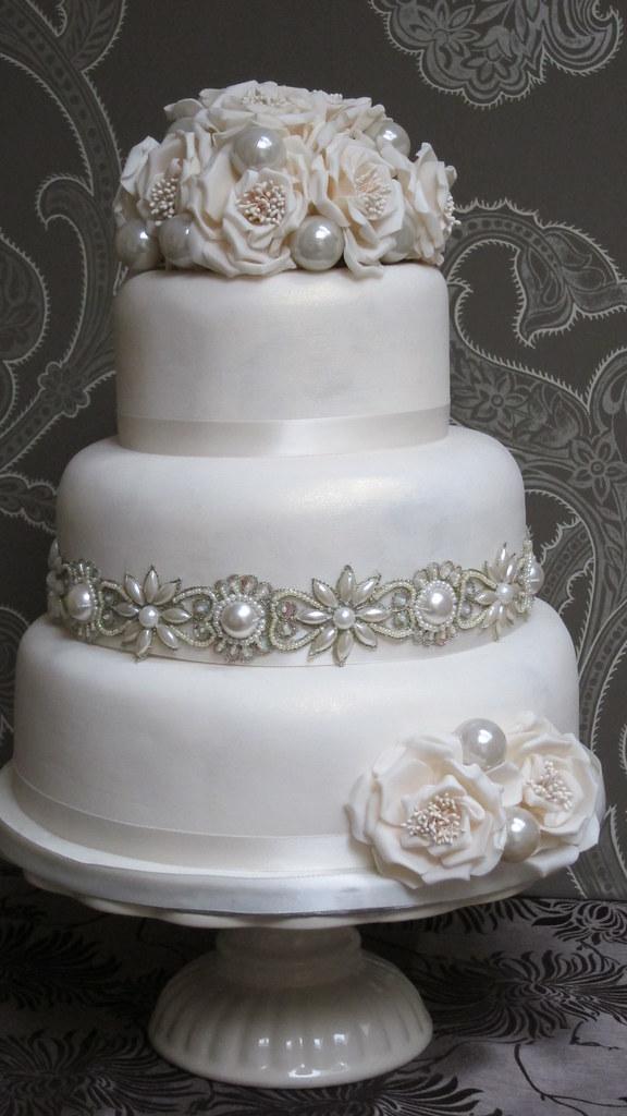 Pearl Wedding Cake Vintage Vintage Pearl Wedding Cake