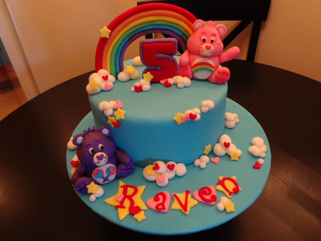 care bear cake care bears cake a of cakee flickr 2455