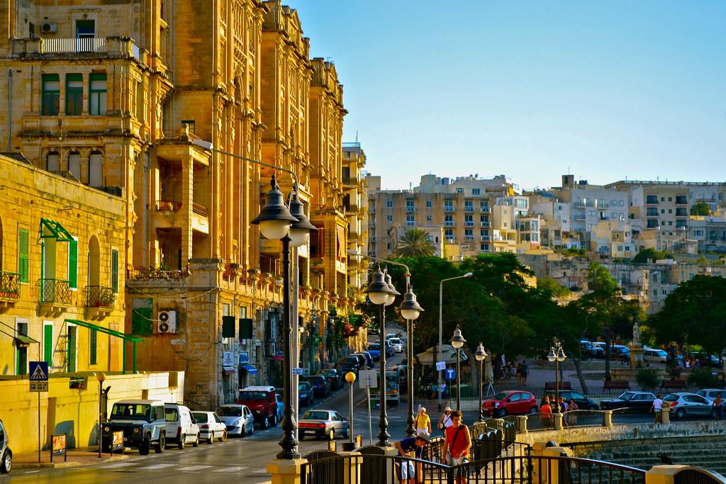 Sliema, Malta | A street surrounding the bay near our apartm… | Adam ...