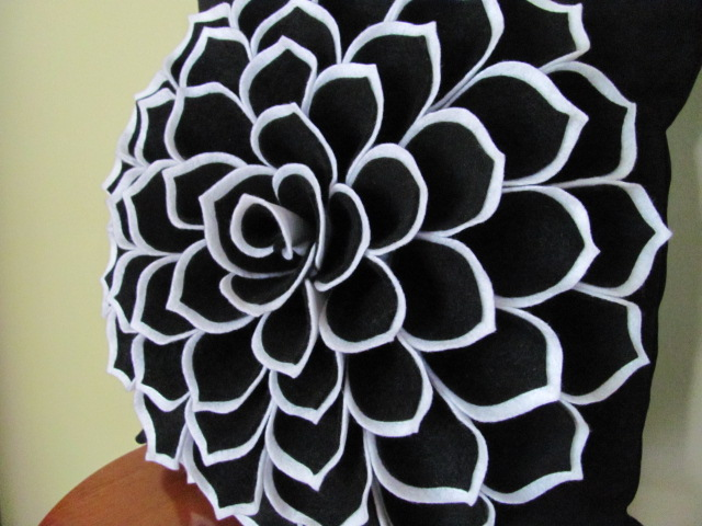 Sophia Flower Pillow Black And White Side View Here Is T Flickr