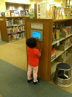 iPad mounted in the Children's Library | by gcaserotti