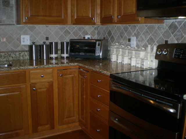 kitchen backsplash tumbled marble with medallions flickr photo