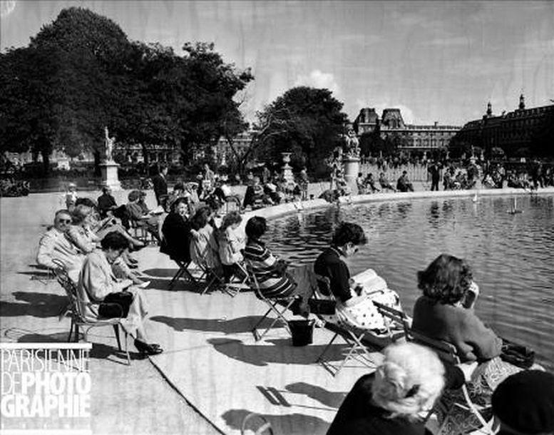 1955 grand bassin du jardin des tuileries oldsailro flickr - Grand bassin de jardin ...