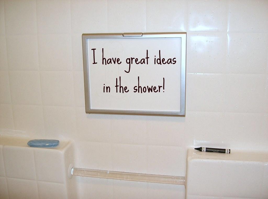 ... JenTravelsLife great ideas in he shower whiteboard - by JenTravelsLife