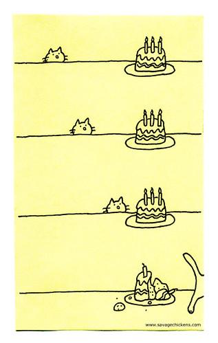 Cartoon Birthday Cat