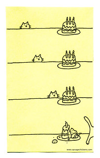 Birthday Cat | by Savage Chickens