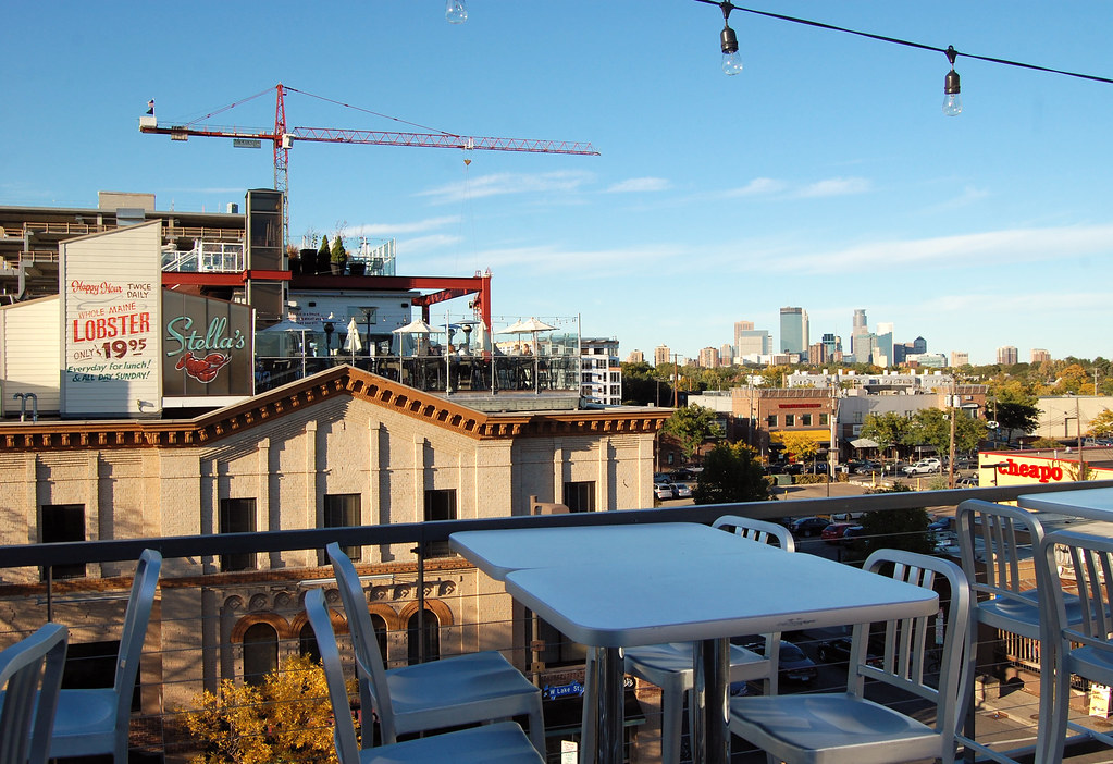 Uptown cafeteria beautiful fall view from the roof of for Stellas fish cafe