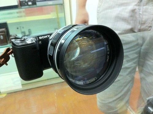 NEX-5N with Canon 50mm f0.95 dream lens | by mWei2010