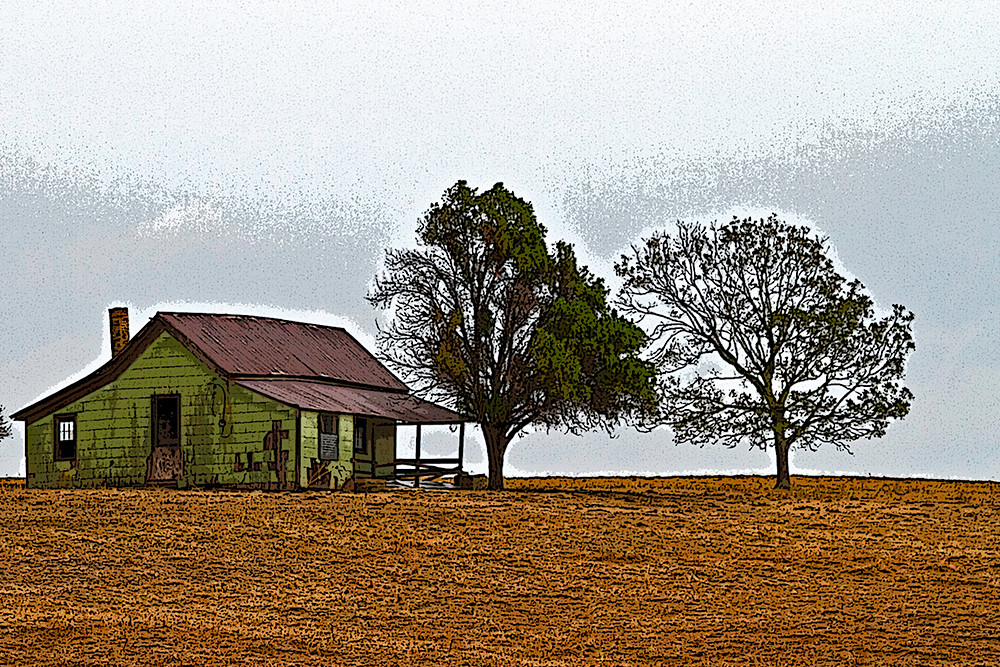 Texas Farmhouse Old farmhouse near Snook TX Richard Finley