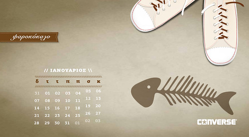 A 2013 calendar for Converse ALL STAR (January) | by it's a spiral