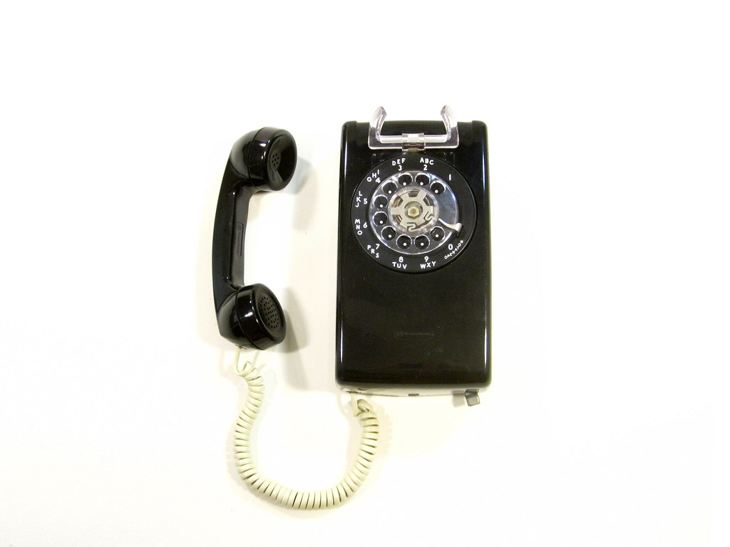 vintage black rotary wall phone vintage wall phone with r flickr. Black Bedroom Furniture Sets. Home Design Ideas