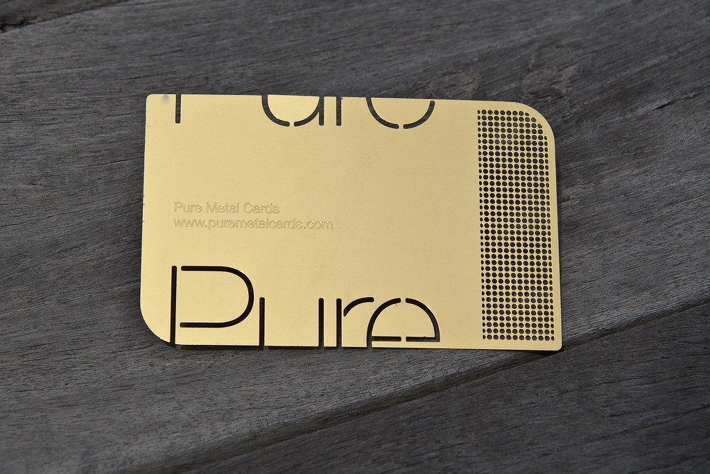 Pure metal cards brass gold metal business card brass me flickr pure metal cards brass gold metal business card by pure metal cards colourmoves