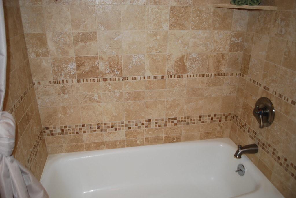 Travertine Shower/tub surround | Classic Stone, Inc. | Flickr
