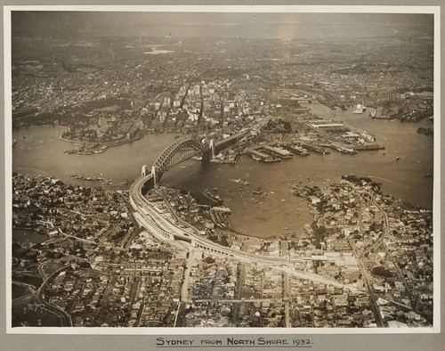 Sydney and Sydney Harbour Bridge taken from North Shore, 19 March 1932 | by National Library of Australia Commons