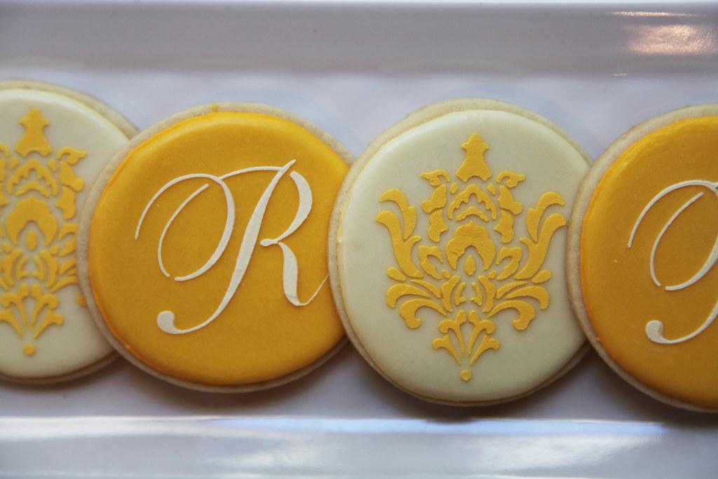 Stencil Cookies Monogram