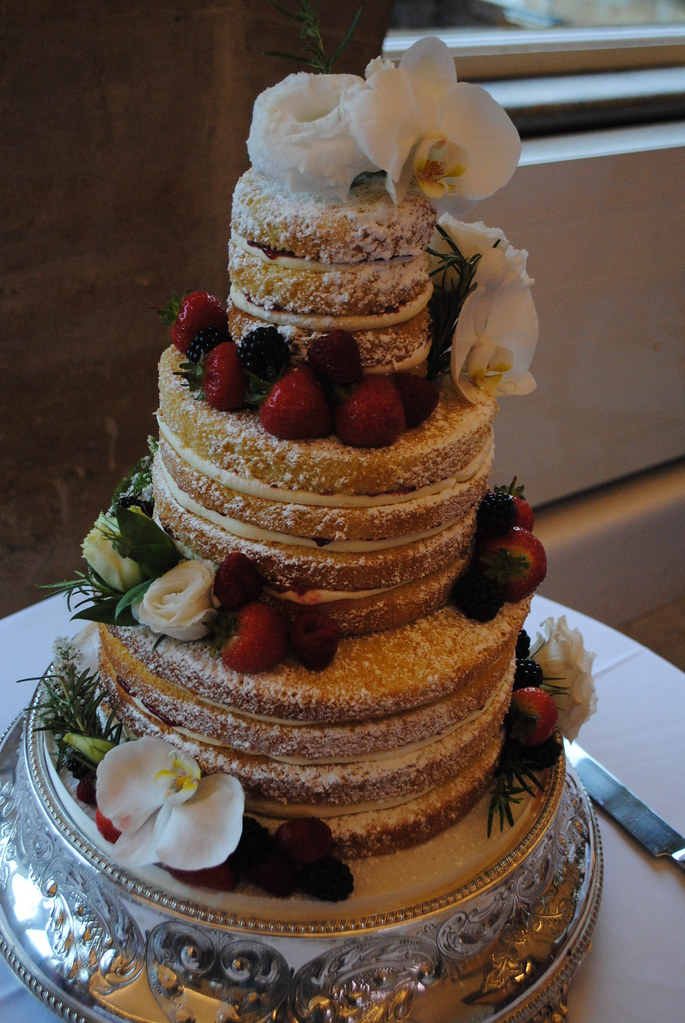 Fresh Fruit And Flowers Wedding Cake This Is A Take On
