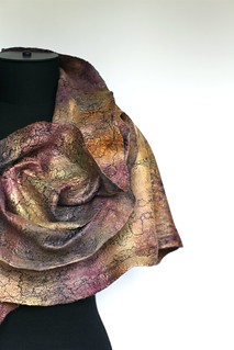 Cobweb Felted Scarf | by FeltedPleasure