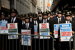 United/Continental pilots march on Wall Street | by Dan Nguyen @ New York City