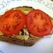 hummus & tomato tartine