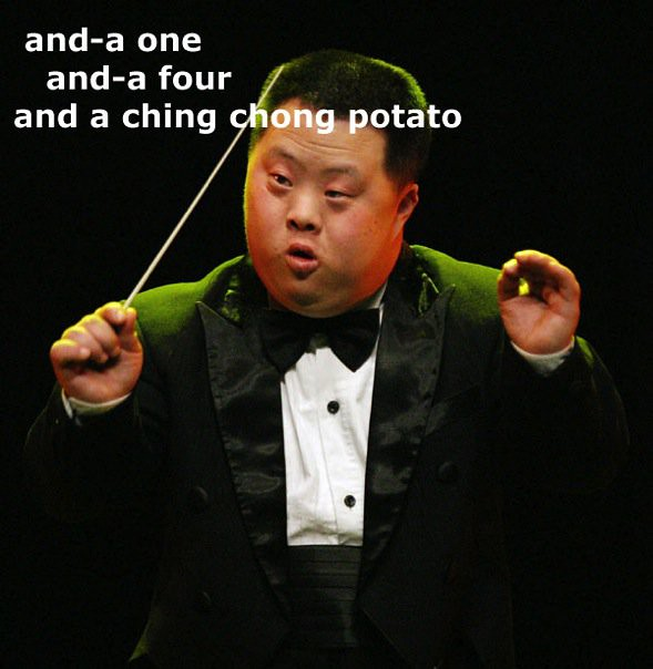 ching chong potato retard asian conductor satv365 flickr