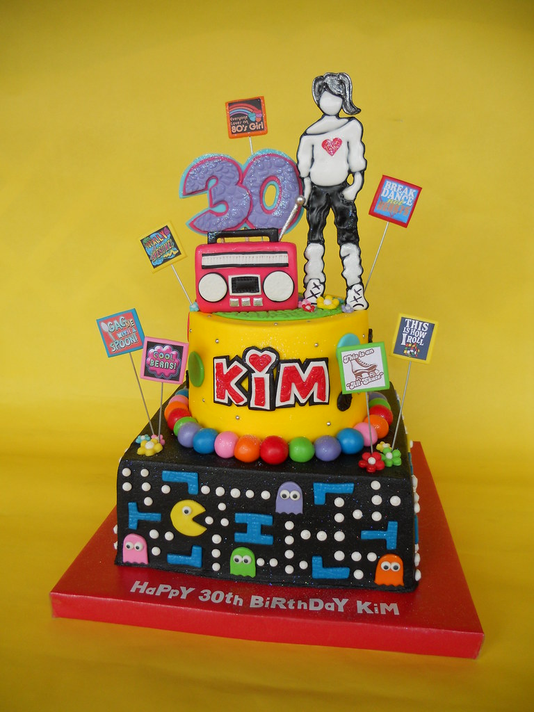 Totally 80s Birthday Cake
