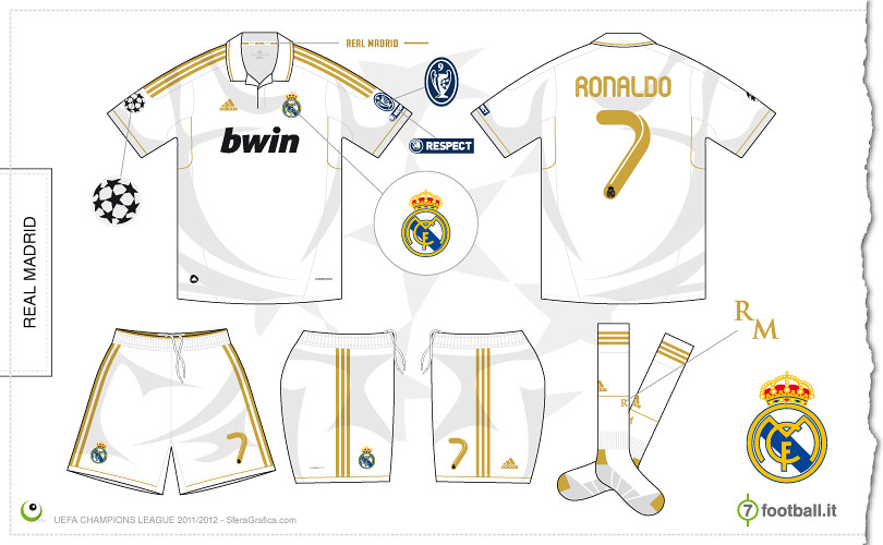 eb9ddc1a7 ... Real Madrid Champions League home kit 2011 2012