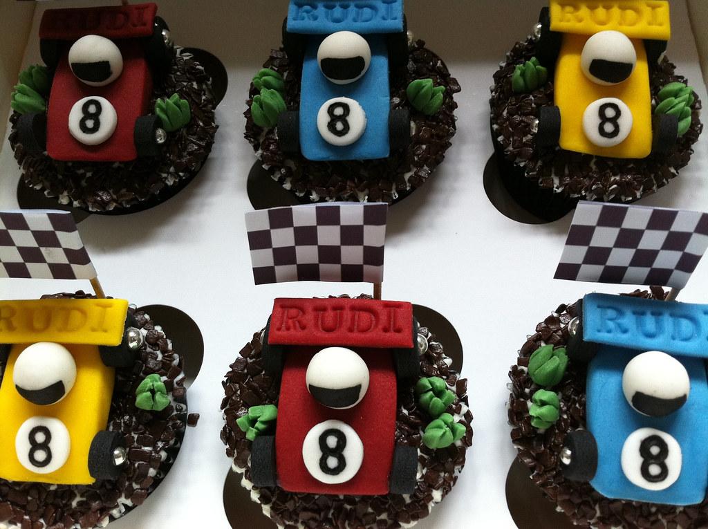 Racing Car Cupcakes Vanilla Cupcakes With Fondant