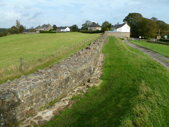 Curtain wall east of T48a and west of Gilsland