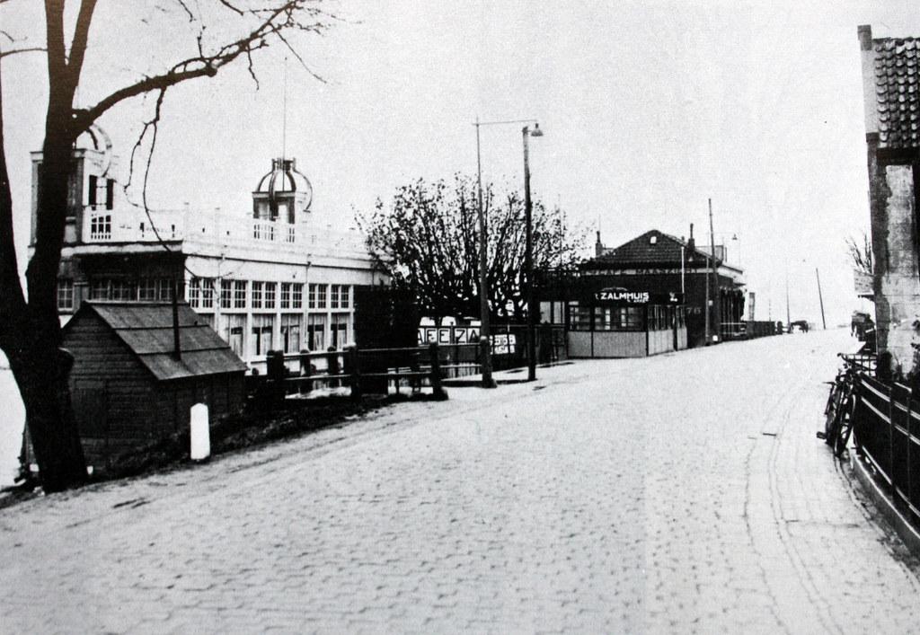 Het zalmhuis aan de schaardijk in kralingseveer in 1938 for Zalmhuis rotterdam