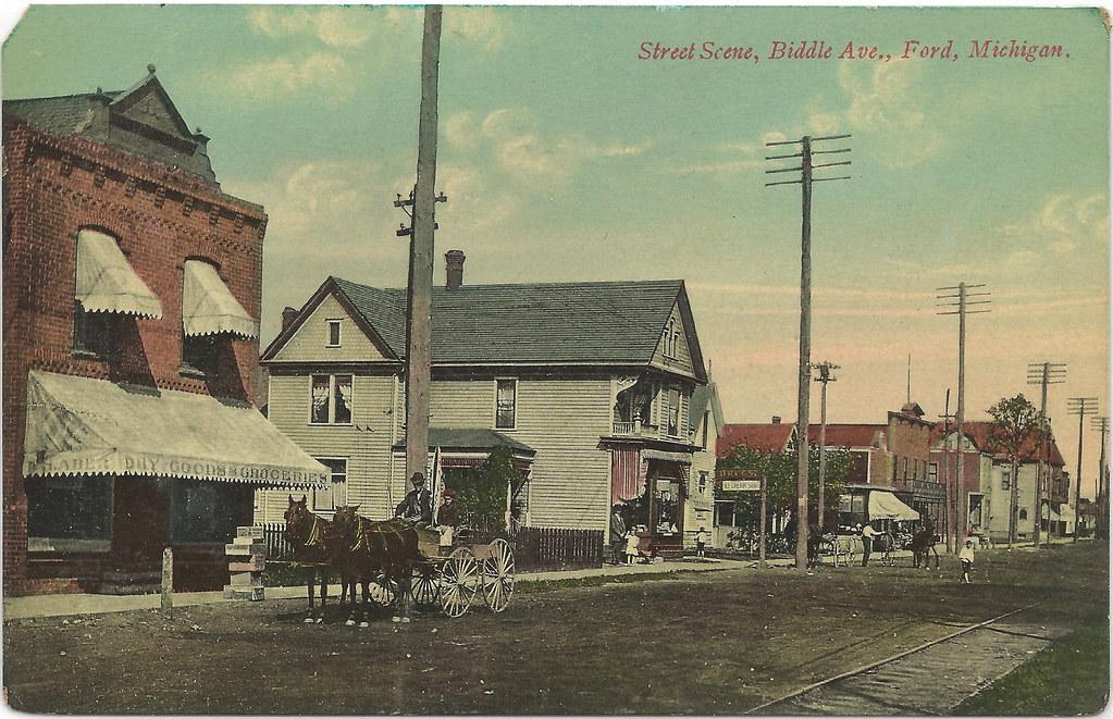 SE Ford City Wyandotte MI RARE Downriver GHOST TOWN Downto ...