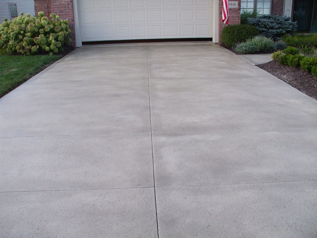 Decorative driveway resurfacing fort wayne for New concrete driveway