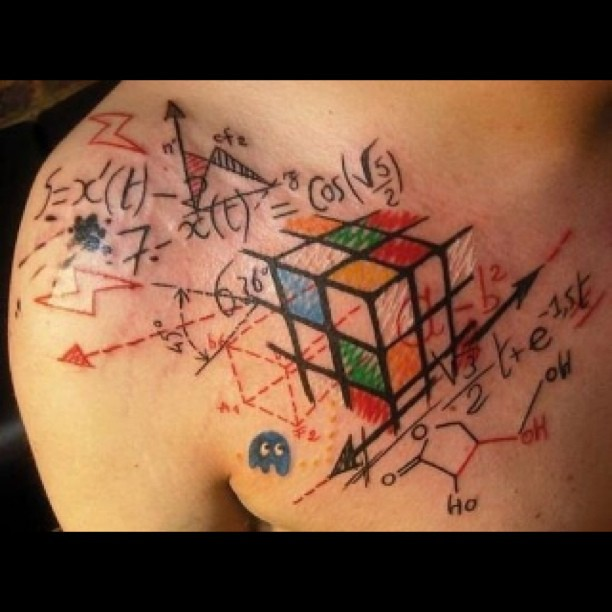 badass tattoo nerd rubixcube nofilter calculus flickr. Black Bedroom Furniture Sets. Home Design Ideas