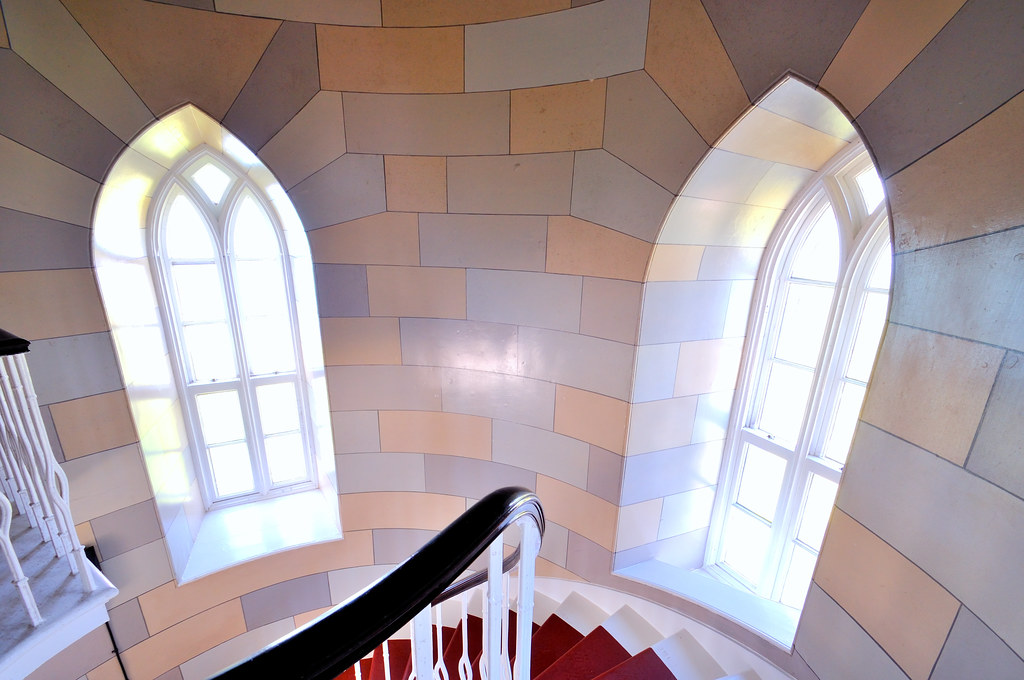 Interior view of the Isle of May Lighthouse, Firth of Fort ...