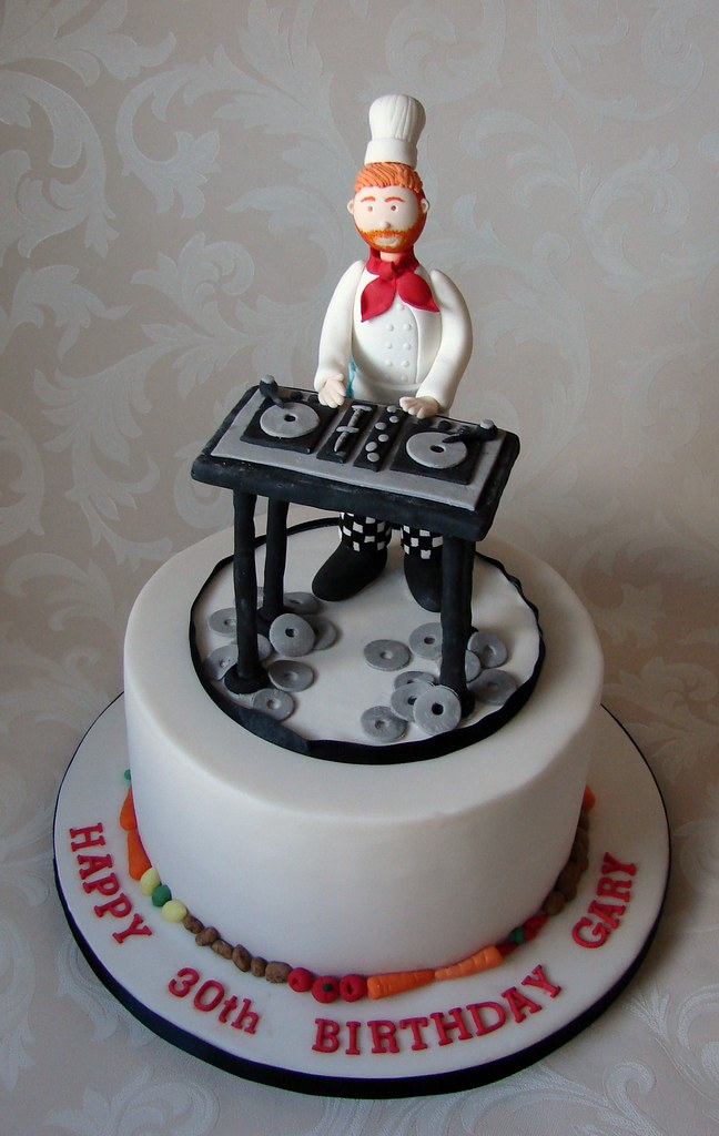 Chefdj Birthday Cake This Was For A Chef Who Likes To Dj Flickr