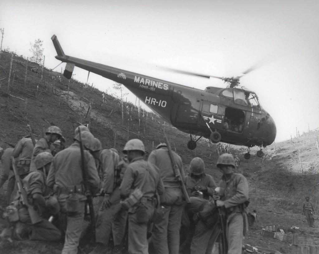 "Transport Helicopter, Korea | ""Return flight-An GRS-1 ..."