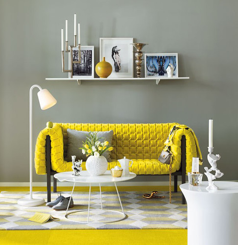 Yellow Sofa | by Jessie {Creating Happy}
