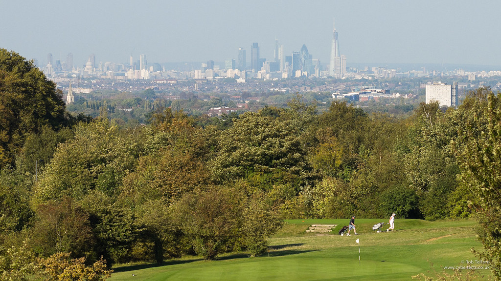 london from epsom downs you can really see how much