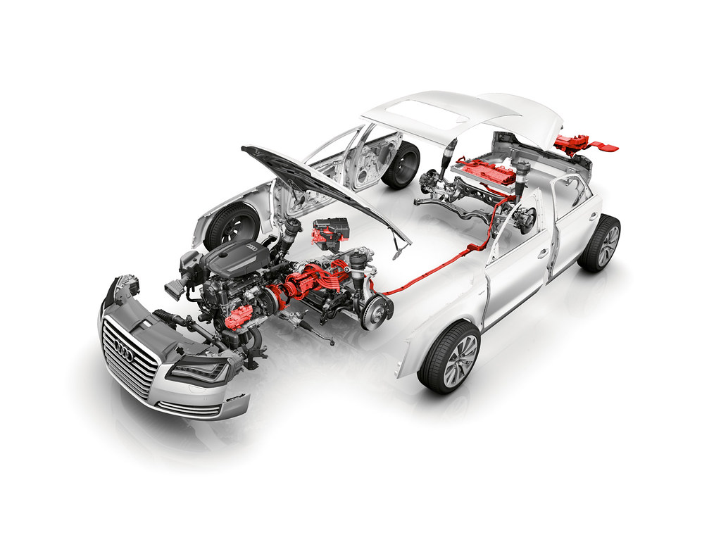 Audi A8 Hybrid Exploded View The Audi A8 Hybrid With It